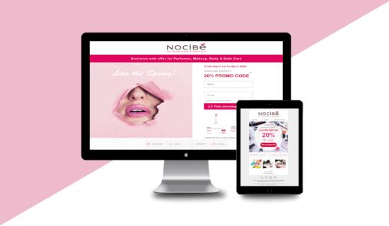 Nocibe :: Landing & Newsletter Design